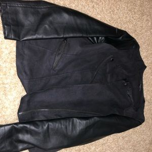 Leather and Velvet Classy Jacket